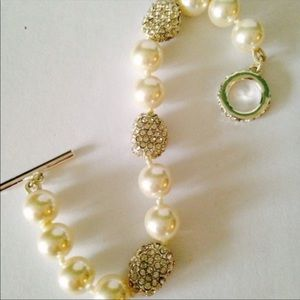 NWOT Ralph Lauren Pearl & Crystal Bracelet